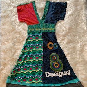 Desigual Dresses - Desigual Multicolor Kimono Style Dress
